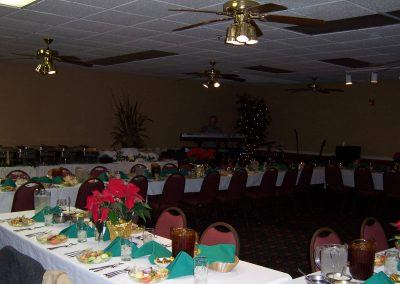 Event Room Decorated for a Wedding