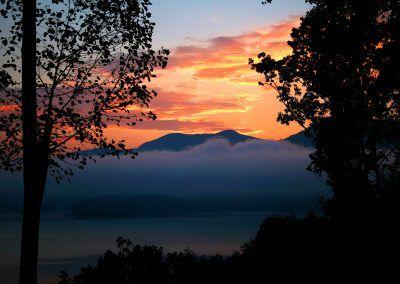 Sunrise over Lake Chatuge